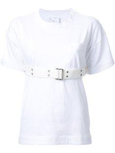 футболка с поясом Sacai