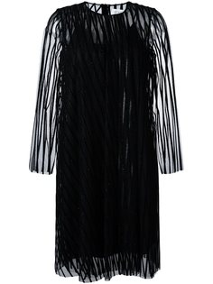 жаккардовое платье с блестящей отделкой Gianluca Capannolo