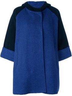 двухцветное пальто с капюшоном Gianluca Capannolo