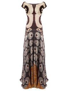 платье с плиссировкой и открытыми плечами Afroditi Hera