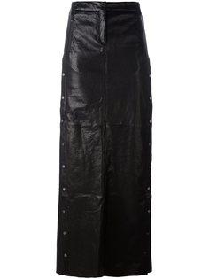 длинная юбка А-образного силуэта с заклепками Ilaria Nistri