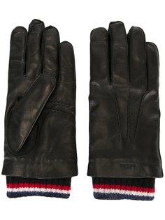 перчатки с деталями в полоску Thom Browne