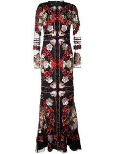 вечернее платье с вышивкой Alexander McQueen