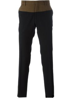классические брюки дизайна колор-блок Nº21