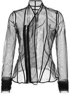 прозрачный приталенный пиджак Rick Owens Lilies