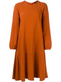 платье А-образного силуэта с длинными рукавами Odeeh