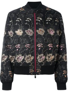 куртка-бомбер с цветочной вышивкой Givenchy