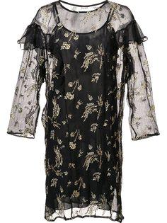прозрачное платье с рюшами Suno
