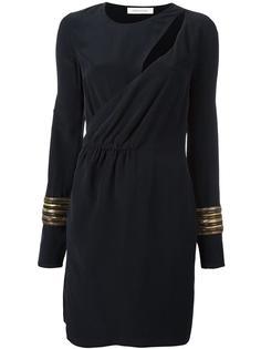 платье с вырезом и запахом Pierre Balmain