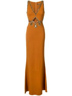 платье с бусинами Roberto Cavalli