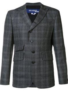 пиджак с заостренными лацканами в клетку Junya Watanabe Comme Des Garçons