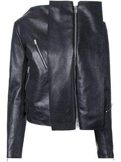 куртка с байкерской деталью Yang Li
