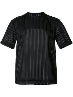 полупрозрачная футболка в рубчик Matthew Miller