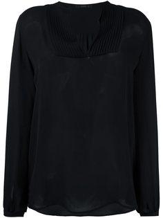 блузка с плиссированным нагрудником Etro