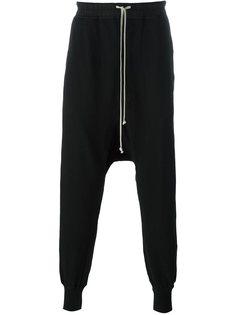 брюки с заниженной шаговой линией  Rick Owens DRKSHDW