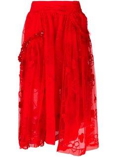 высокая юбка с кружевом Simone Rocha
