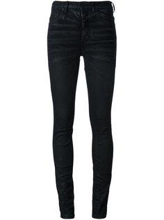 узкие джинсы с восковым покрытием Off-White