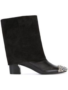 ботинки с контрастным носком   Casadei