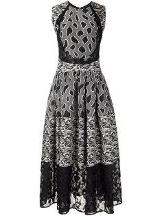 расклешенное платье со смешанным принтом Sophie Theallet