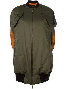 куртка-бомбер без рукавов  Erika Cavallini