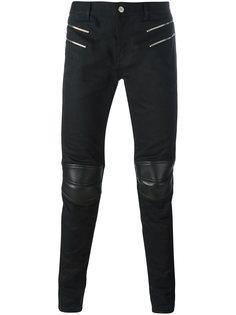 брюки в байкерском стиле Saint Laurent