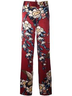 брюки с принтом Blossom Dsquared2