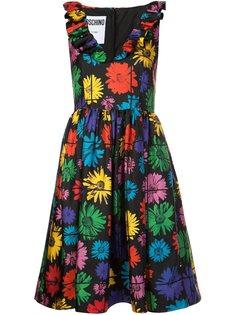 платье с цветочным принтом Moschino
