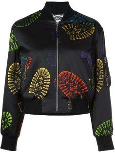 куртка с принтом следов обуви Moschino