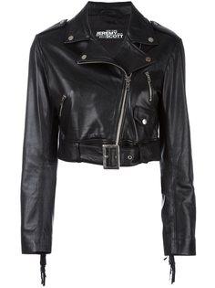укороченная байкерская куртка Jeremy Scott