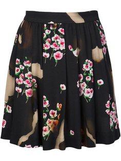 плиссированная юбка с цветочным принтом Moschino
