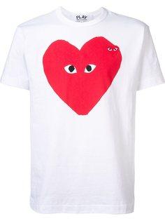 футболка с принтом Heart Comme Des Garçons Play