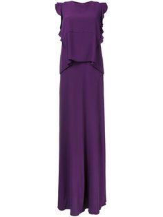 длинное платье с оборками Carven