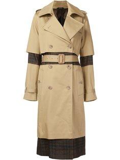 пальто с клетчатой вставкой Maison Margiela