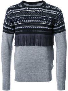 свитер с вышивкой и бахромой Yoshiokubo