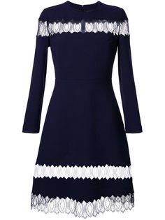 расклешенное платье с прозрачными кружевными панелями Huishan Zhang