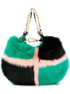 сумка через плечо из лисьего меха Salvatore Ferragamo