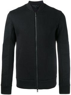 куртка-бомбер с контрастной отделкой на рукавах Helmut Lang
