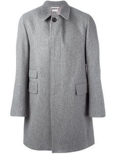 свободное однобортное пальто Thom Browne