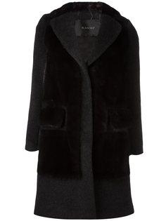 пальто с меховыми вставками Blancha