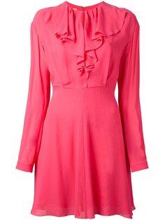 приталенное платье с оборками Giamba
