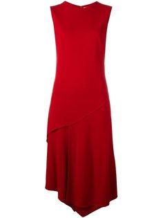 асимметричное платье миди DKNY