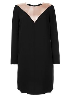 платье с длинными рукавами и прозрачной панелью Paule Ka