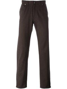брюки из саржи  Brioni