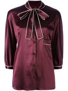 рубашка с завязкой на бант  Dolce & Gabbana
