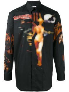 рубашка с принтом heavy metal Givenchy