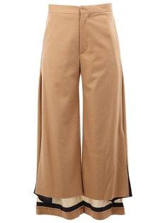 высокие брюки с контрастными щиколатками Undercover