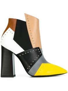 ботинки колор-блок  Pollini