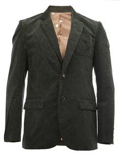пиджак в рубчик с прямоугольными лацканами Undercover