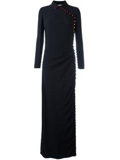 приталенное платье с пуговичной отделкой Marco De Vincenzo