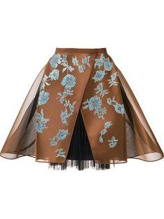 кринолиновая кружевная юбка Delpozo